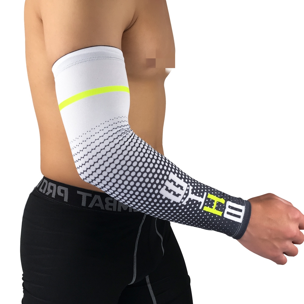 Cool Men Sport Cycling Running Bicycle UV Sun Protection Cuff Cover Protective Basketball Arm Sleeve 2PC Bike Arm Warmer Sleeves