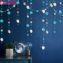 4M Bright Paper Star Banner Birthday Party Decorations Kids Adult Gender Reveal Boy Girl First Princess Supplies Christmas