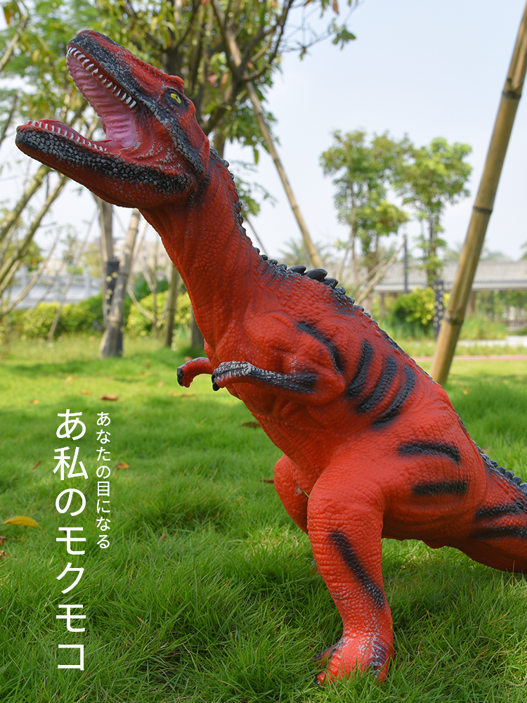 Dinosaur Toys Puppets World-Park Velociraptor Jurassic Plastic Big-Size Model for Children