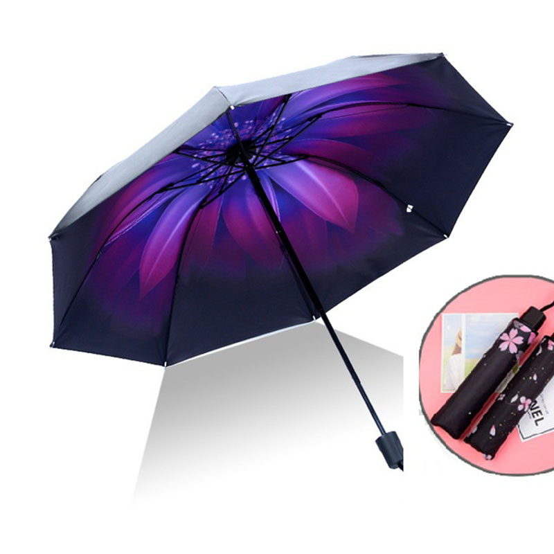children anime umbrella for kids Foldable Pockets umbrella Rain Women Kids