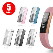 Protetor de tela Caso para Fitbit Alta / Alta HR / Ace All-Around Ultra Slim Macio TPU Tampa Do Relógio proteção Bumper Shell