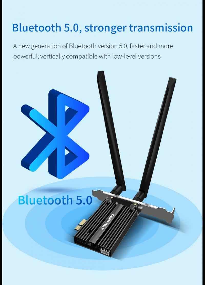 Sec nowy bezprzewodowy dwuzakresowy WiFi 3000 mb/s 6 Intel AX200 PRO PCIE Bluetooth 5.0 karta sieciowa wi-fi AX200NGW 2.4G/5G 802.11 AX