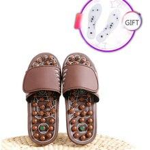 купить Acupuncture Therapy Massager Shoes Foot Massage Slippers   For Healthy Foot Acupoint Activating Reflex Stress Massageador Sandal по цене 1102.02 рублей
