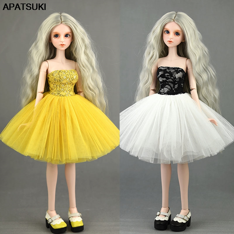 1PC Off Shoulder Princess Dress for <font><b>1/4</b></font> XINYI SD Doll Outfits <font><b>Clothes</b></font> Formal Gown Ballet Dresses for 1:4 <font><b>BJD</b></font> Dolls Accessories image