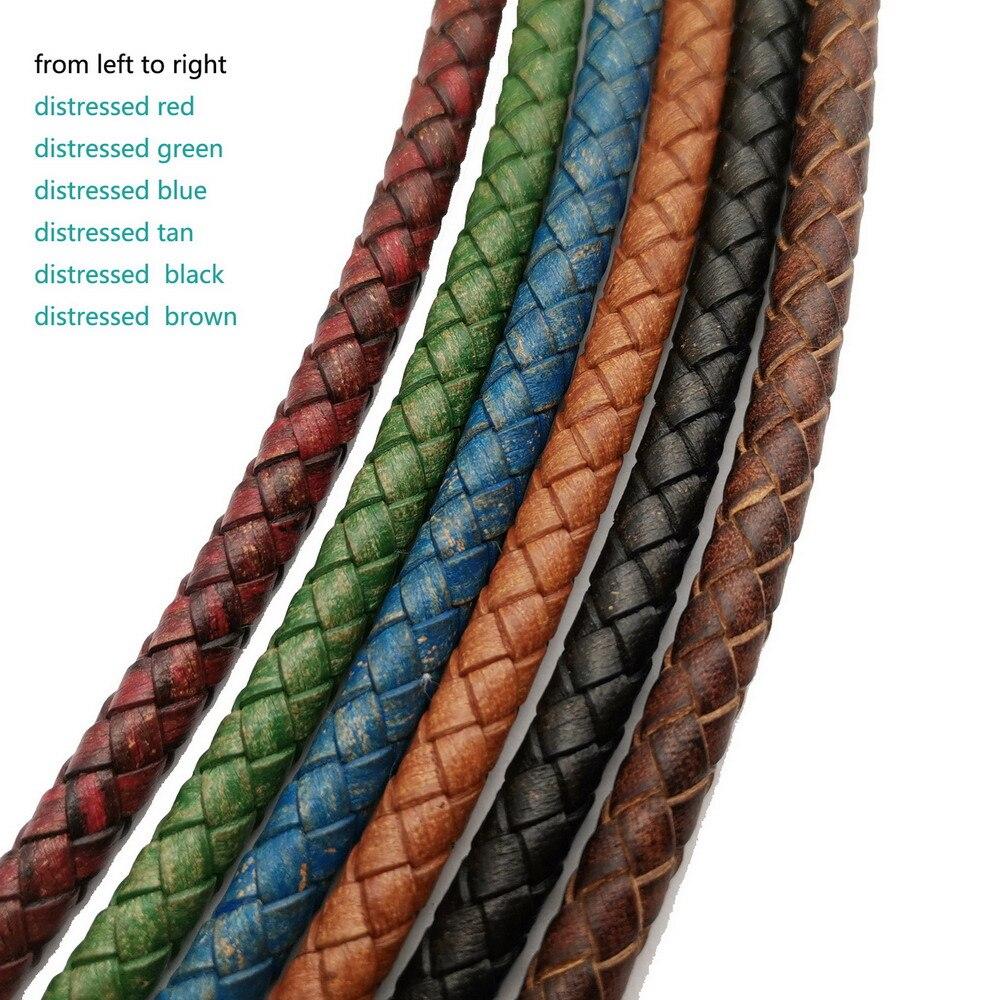 Aaazee 1 ярд 6 мм плетеный кожаный ремешок сплетенный сложенный кожаный Боло стяжки шнур для изготовления браслетов проблемный цвет|Ювелирная фурнитура и компоненты|   | АлиЭкспресс