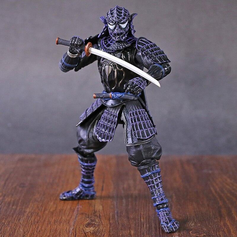 Marvel Spiderman Samurai Onmitsu Black Armor PVC Action Figure Collectible Model Toy(China)