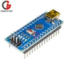 Mini DC CH340 CH340G Atmega328P mikrokontroler MCU płyta kontrolera Nano V 3.0 moduł napędu Micro USB 5V 6V 12V dla Arduino