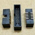 10 шт. SMT 8/10/12/14/16/20/26/30/40Pin 1,27 мм Штекерный разъем, прямые разъемы idc box, коннектор PCB, двухрядный SMD DC3 заголовок