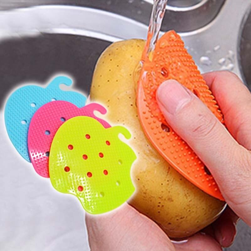 Brosses nettoyantes en PVC | Brosses pour fruits et légumes, outils de cuisine multifonctions en PVC, brosse de nettoyage facile, épurateur de pommes de terre, Gadgets de nettoyage de cuisine