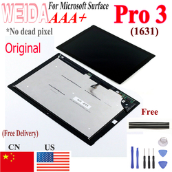 Lcd Voor Microsoft Surface Pro 3 1631 Lcd-scherm Touch Digitizer Display TOM12H20 v1.1 LTL120QL01 003 Voor Pro3