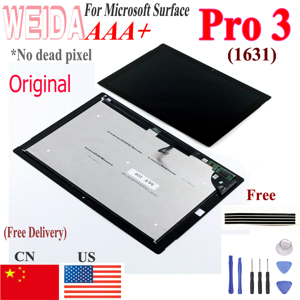 Original Lcd For Microsoft Surface Pro 3 1631 LCD Display Touch Digitizer Display TOM12H20 V1.1 V1.0 LTL120QL01 003 For Pro3 Lcd