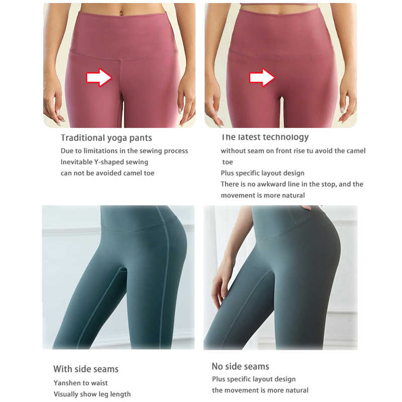 Seamless Gym Pants High Waist Yoga Trousers For Women Fitness Clothes Hip Up Sport Sets High Waist Sportswear With No Side Seams Aliexpress