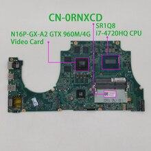 Para dell inspiron 7557 rnxcd 0rnxcd CN 0RNXCD w i7 4720HQ cpu 960m 4g gpu da0am9mb8d0 computador portátil placa mãe mainboard testado