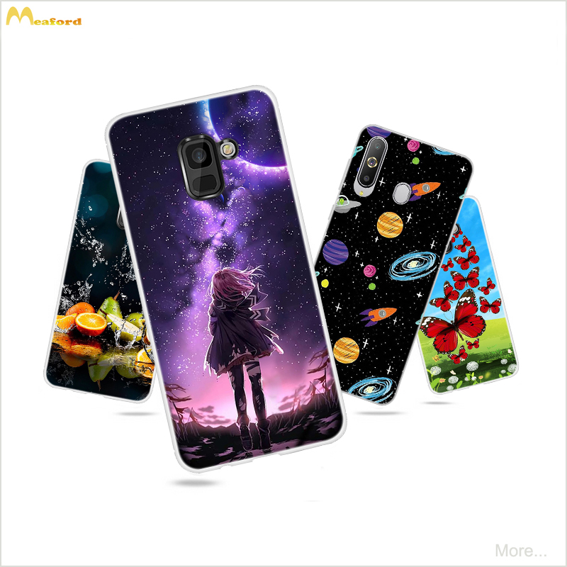 Case For <font><b>Samsung</b></font> Galaxy A 8S <font><b>G8870</b></font> Silicone Cover For Galaxy <font><b>A8</b></font> Plus 2019 Coque Cute Fruits Butterfly Cat Design Skin Soft Shell image