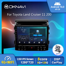 Android 10 araba radyo Video oynatıcı Toyota Land Cruiser için 11 200 2007-2015 oto GPS Stereo Carplay navigasyon DSP OBD BT 10 inç