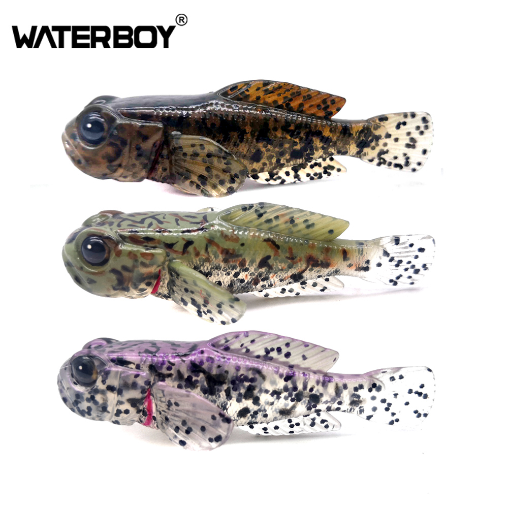 5pcs/pack 75mm 9.3g Goby Soft Swimbait 0.33oz 3inch Fish Baits Finest Detailed Top Quality Softbait Soft Fishing Lure Factory