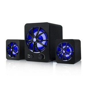 Image 3 - Loa Có Dây LED Đèn LED Nhiều Màu Sắc Bass Nhạc Stereo Loa Siêu Trầm Loa Máy Tính Khí Quyển Sáng Bass Stereo Cầu Thủ Cho Laptop