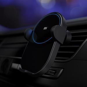 Image 4 - Xiaomi chargeur de voiture sans fil déformation électrique 20W haute vitesse sans fil Flash charge rapide voiture support pour téléphone