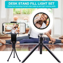 8'' 20CM Photography LED Selfie Ring Light Dimmable Camera Phone Ring Lamp With Table Tripod Stand For Makeup Video Live Studio