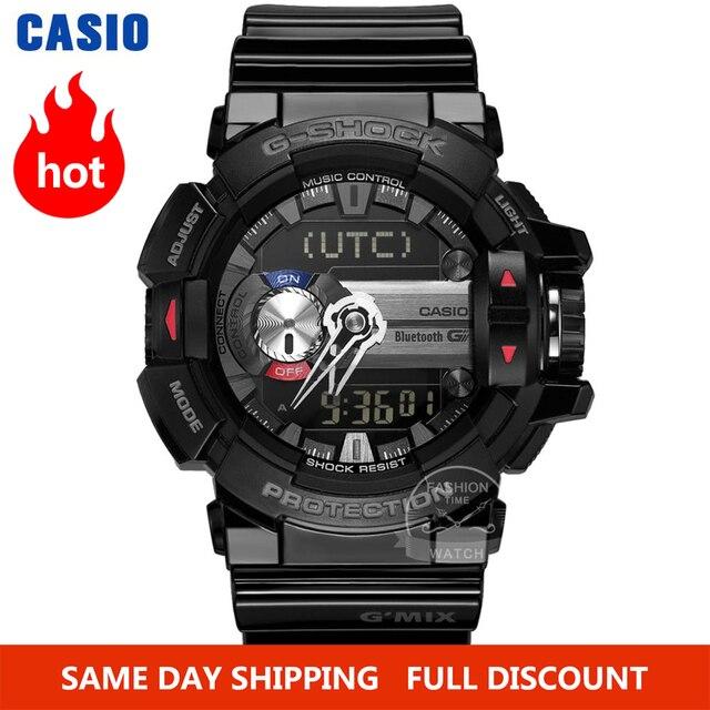 Casio часы мужчины г шок умные цифровые часы лучший бренд класса люкс комплект кварц 200м Водонепроницаемый Спорт дайвинг наручные часы G Shock Военный светодиод Bluetooth Музыка управления мужские часы relogio reloj