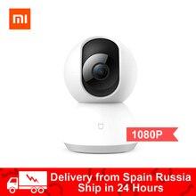 Оригинальная умная IP камера Xiaomi Mijia, вебкамера 1080p, видеорегистратор с углом обзора 360 градусов, Wi Fi, беспроводная камера с ночным зрением, ИИ и улучшенным датчиком движения