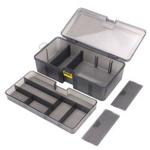 Multi-division Dual Layer Tool Storage Box Multifunctional Organize Fishing Lure Hooks Arrange Case Durable Plastic.