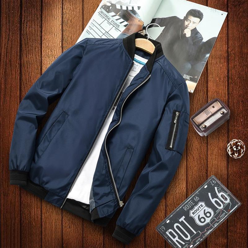 Большой Размеры мужская повседневная куртка 2021 весенний тонкий трикотажный свитер бомбардировщик куртка мужская мотоциклетная куртка мод...