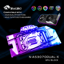 Water-Cooling-Block Liquid-Cooler Graphics-Card 3070 Bykski N-AS3070DUAL-X ASUS GPU