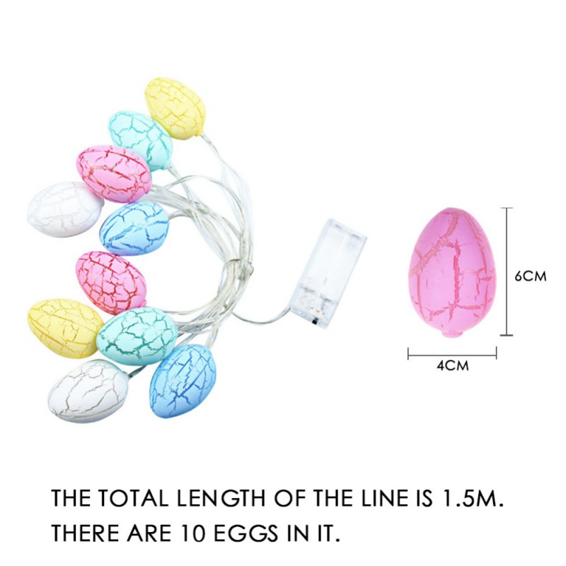 LED Egg Lights String Easter Decoration For Home Egg String Light Chicken Lamp For Wedding Birthday Party Supplies AA Battery