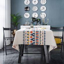 Fashion table cloth black and white print linen fabric table cloth bird print table cloth