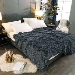 Inverno flanela cobertor colcha super quente cobertores de cama para casa sofá cadeira avião viagem macio pelúcia cor sólida capas cama