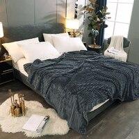 Winter Flanell Decke Super Warme Bettwäsche Outlet Werfen Decken Home Sofa Stuhl Flugzeug Reise Weiche Plüsch Einfarbig Bettdecke-in Tagesdecke aus Heim und Garten bei