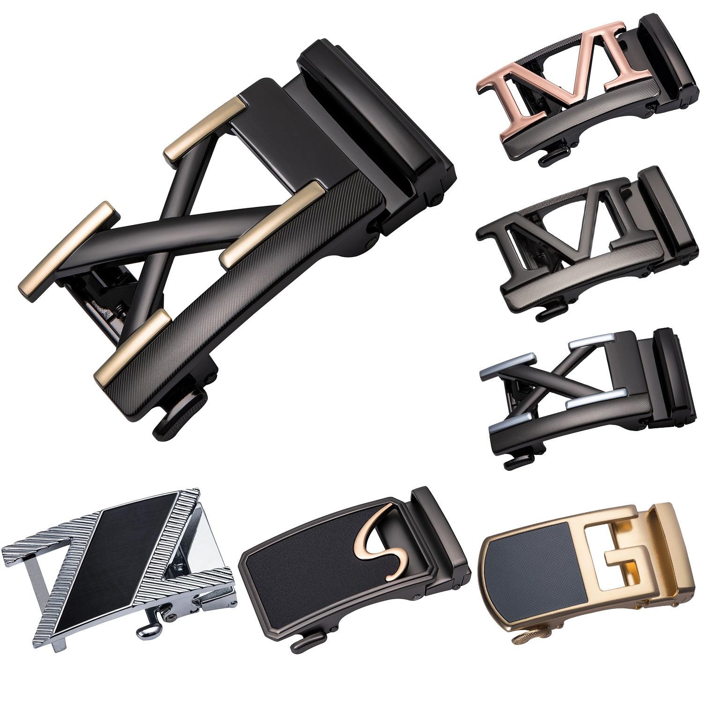 Fashion Men's Business Alloy Automatic Buckle Belt Buckles For 3.5cm Ratchet Leather Belt Head Men Apparel Accessories DiBanGu