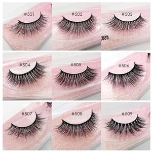 Image 4 - Pestañas postizas de visón Natural, venta al por mayor, 20/30/40/50 Uds., maquillaje a granel