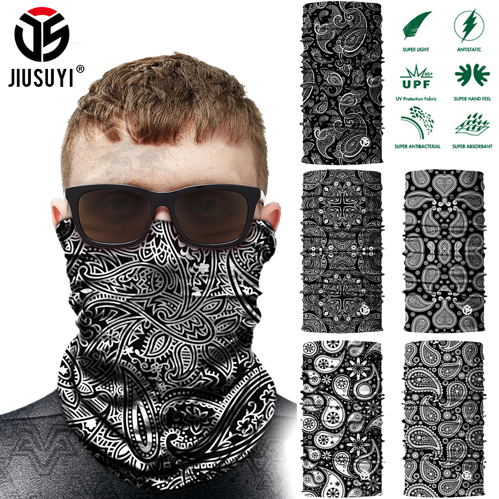 3D Seamless Bandana Neck Gaiter Tubular Scarves Head Skiing Scarf Bicycle Half Face Cover Balaclava Fashion Headband Men Women