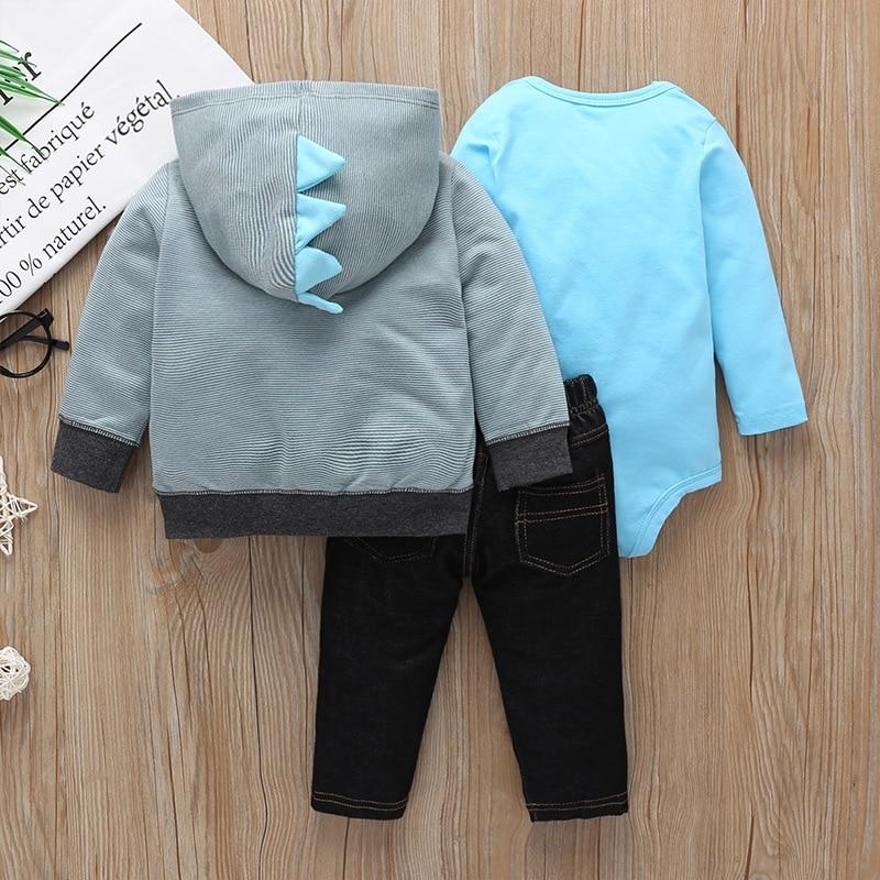 Image 2 - Newborn baby clothing Autumn 3pcs baby Boys Girls Clothes Jacket+pants+bodysuit Cute animals Infant Set Unicorn girls outfitClothing Sets   -
