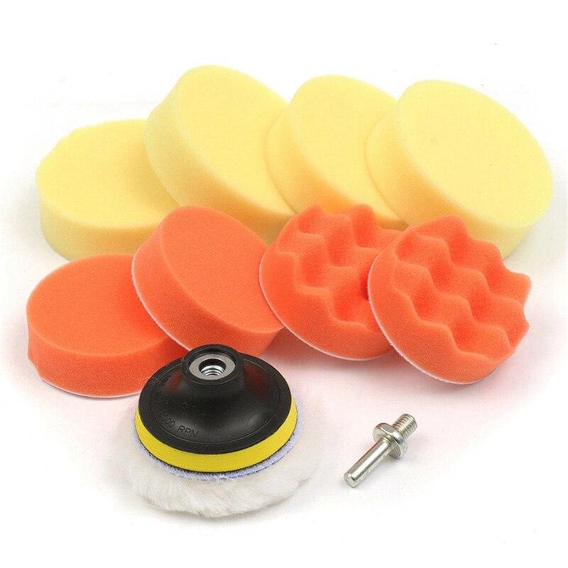 Car Sponge Polishing Pad Set Polishing Buffer Waxing Adapter Drill Kit For Auto Body Care Headlight Assembly Repair