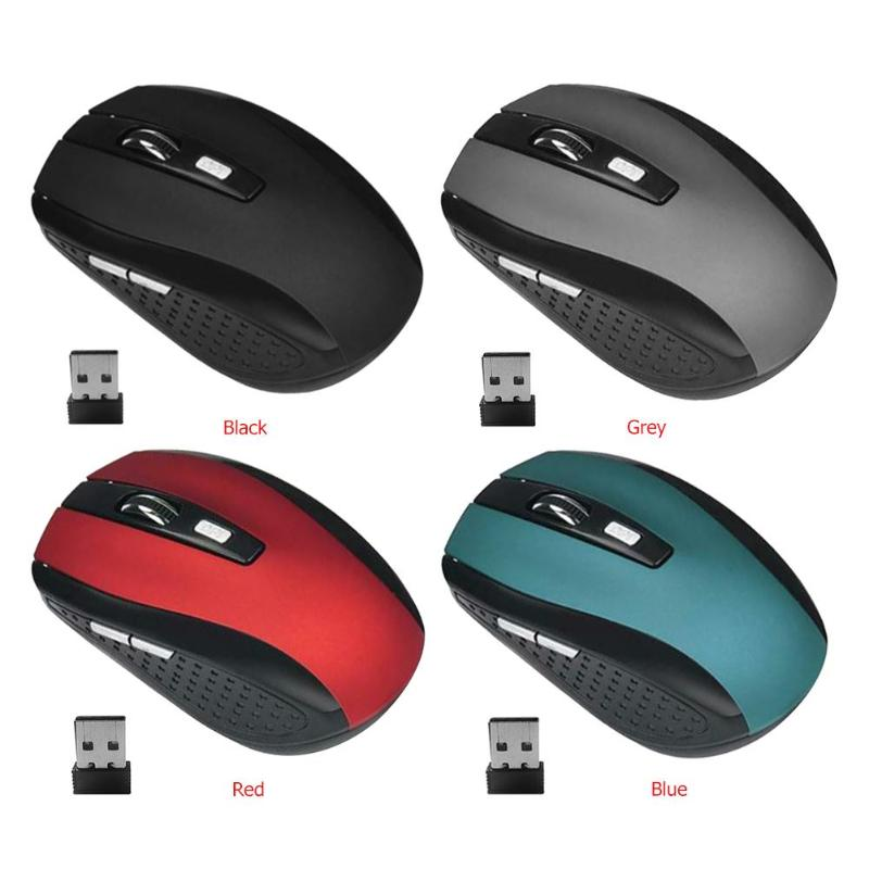 2.4GHz 2000DPI USB Optical Wireless Mouse Super Universal 6 Buttons For Gamer Worker Computer PC Laptop Gaming Home Office