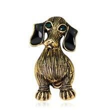 European and American retro high-end brooch fashion personality dog corsage animal Dan Runxin best selling