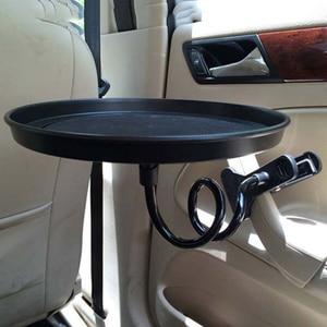 Image 3 - طاولة طعام للسيارة قابلة للطي ، حامل مشروبات ، منصة نقالة ، مقعد سيارة ، أسود