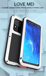 Love Mei Powerful Case For Huawei P40 Lite Waterproof Shockproof Metal Aluminum Case Cover For Huawei P40 Lite & Tempered Glass