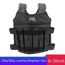 SUTEN 20kg/50kg Laden Gewichteten Weste Für Boxing Trainings Workout Fitness Ausrüstung Einstellbare Weste Jacke Sand Kleidung