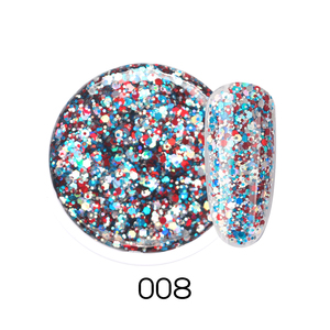 Image 5 - Beautilux 1pc מסנוור נוצץ קשת נייל משרים Off UV LED ציפורניים אמנות גליטר בלינג רוז זהב כסף ג ל פולני 10g