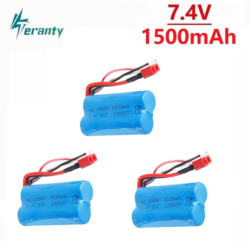 7.4V 1500mAh 18650 Battery for <font><b>Wltoys</b></font> 12428 12401 12402 12403 <font><b>12404</b></font> 12423 FY-03 FY01 FY02 rc toys 7.4V LIPO Battery Spare Parts image