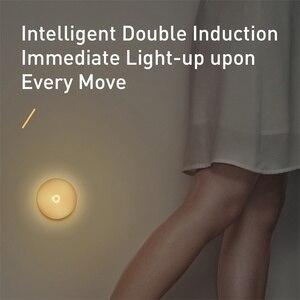 Image 3 - Baseus Luce di Notte del LED con PIR Sensore di Movimento Intelligente Nightlight Per Ufficio Camera Da Letto di Casa Camera Da Letto Umani di Notte di Induzione Lampada