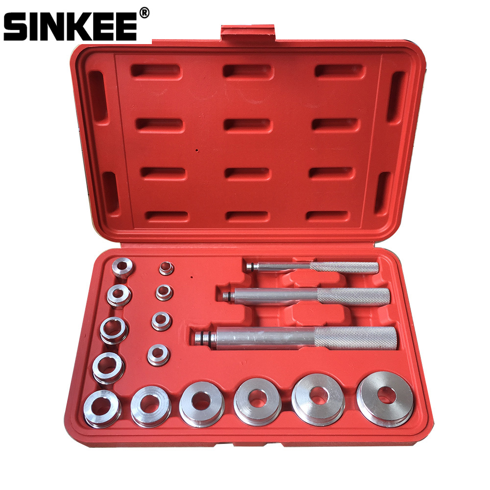 17 PCS Wheel Bearing Race Seal Bush Driver Master Tool Set Aluminum Axle Auto Set SK1148