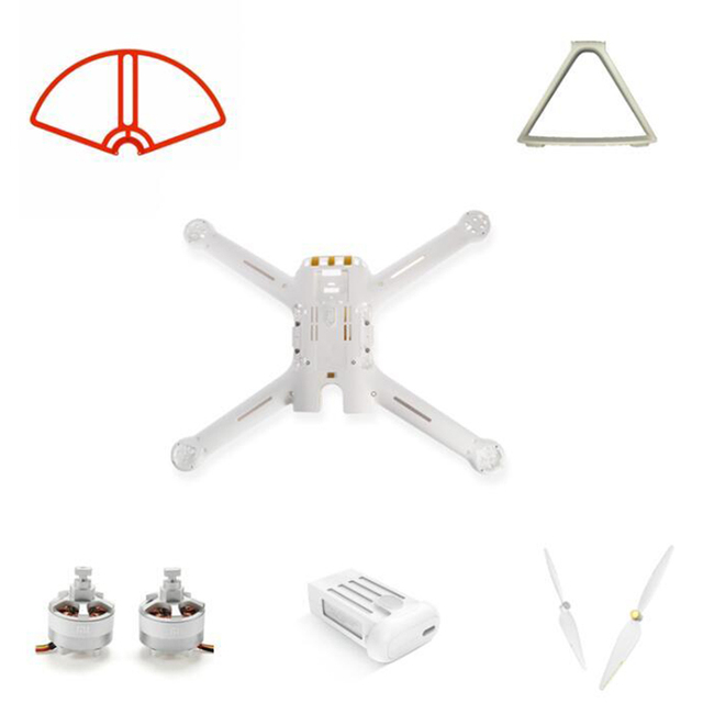 Mi Drone 4k 버전 예비 부품 Baldes 프레임 세트 랜딩 모터 바디 쉘 배터리 프로펠러 가드 WIFI 수신기