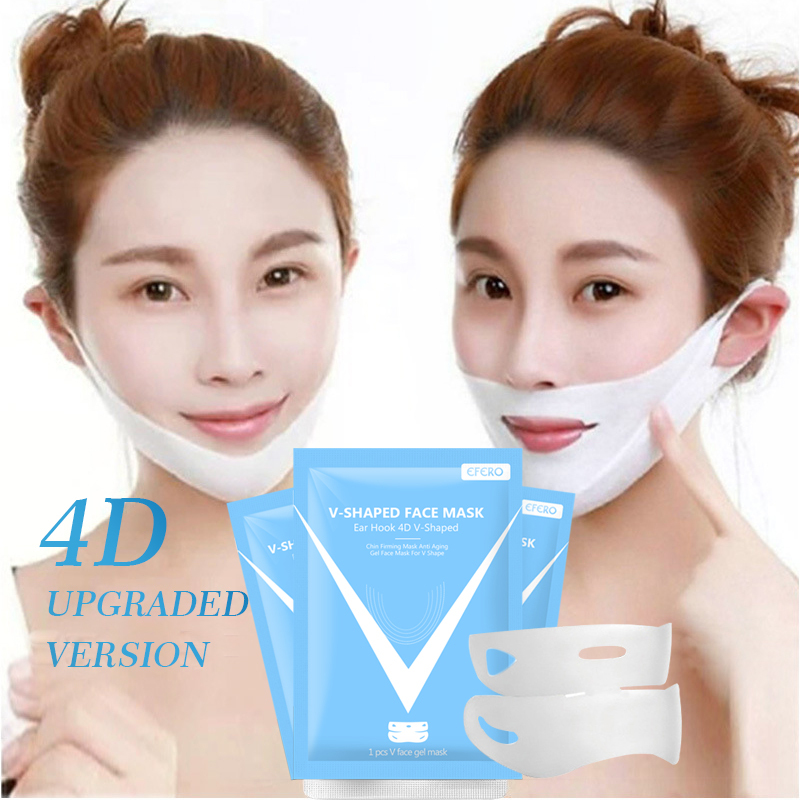 1 Pcs Lifting Facial Mask Double V Shaped Face Chin Slim & Lift Peel Off Mask Face Firming Mask Stretch For Skin Care TSLM2