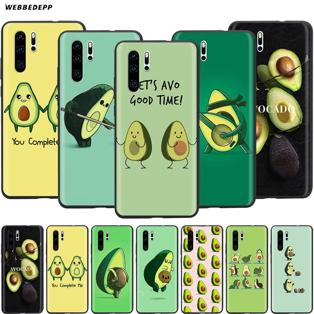 Webbedepp Delicious Avocado Case for Huawei P8 P9 P10 P20 P30 Lite Pro P Smart Z 2019 2019 Mini