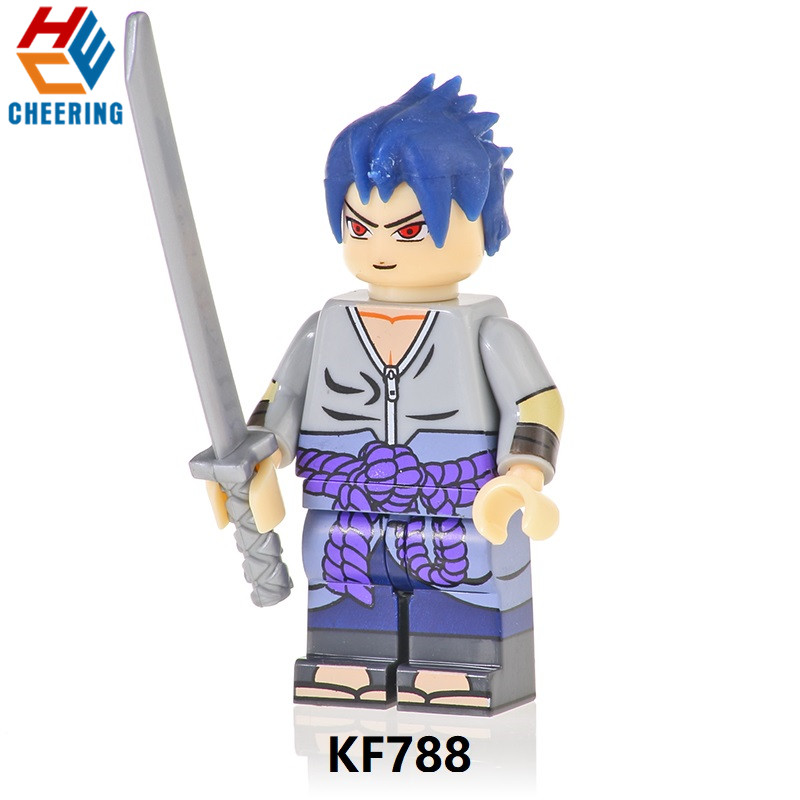 Single Sale Building Blocks Dolls Uzumaki Naruto Uchiha Sasuke Uchiha Itachi Hatake Kakashi Figures Toys Gift For Children KF788
